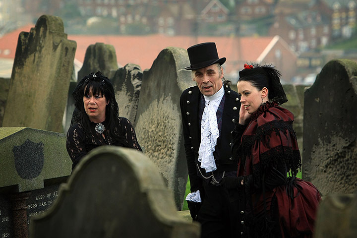 Aw!  Goths renew their vows at the Whitby Goth Weekend.
