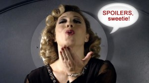 "River Song says, ""Spoilers, sweetie."""