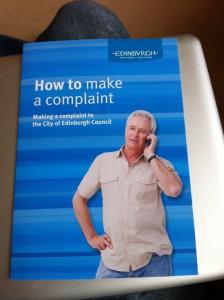 Edinburgh council's complaints brochure