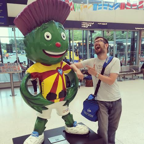 Glasgow Commonwealth Games mascot. And Clyde.