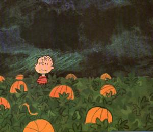 Yer Great Pumpkin cannae help ye now, ya wee choob