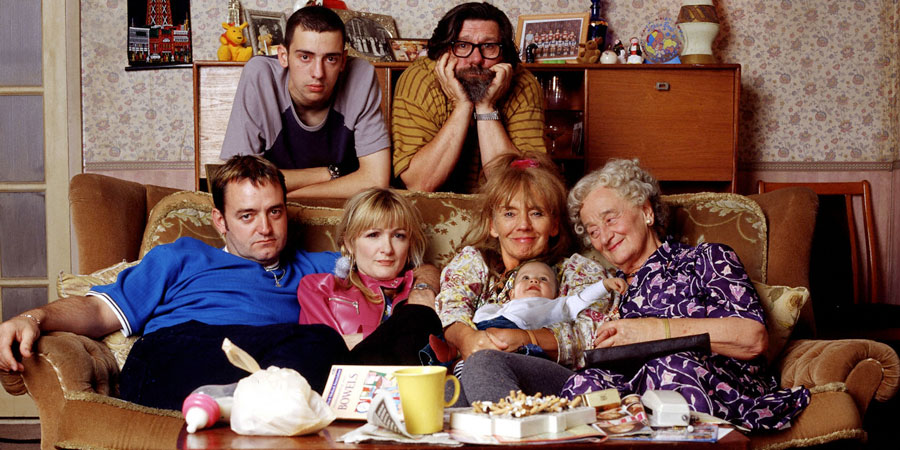 Seven victims of the Covid-19 Coronavirus | Television's The Royle Family gathered on and around the couch.